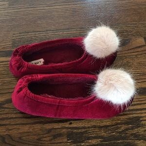 Cutest Puffy Pom Velvet Slippers 8/9